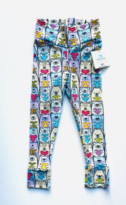 Handmade leggings/yoga pants style 'Bears in Love'; size 2T - READY TO SHIP