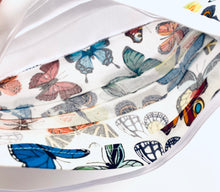 Load image into Gallery viewer, Fabric Face Mask with elastic (Barrier Mask)- Summer Butterflies ***BACK IN STOCK***