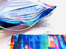 Load image into Gallery viewer, Fabric Face Mask with elastic (Barrier Mask) - Kaleidoscope ***BACK IN STOCK***