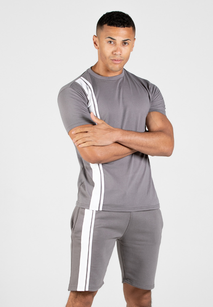 Capo STRIPE T-Shirt - Steel Grey
