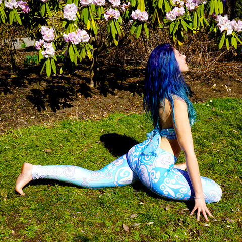 leggings made of athletic eco-friendly fabric blend