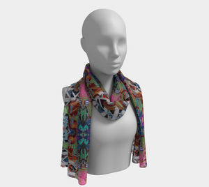 Mystical Worlds Scarf - Astral Wizard Art
