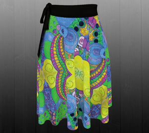 Psychedelic Playground Skirt - Astral Wizard Art