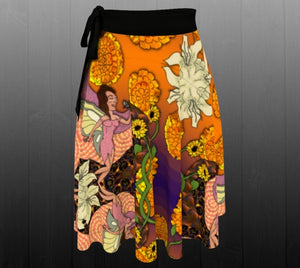 Fractal Fairy Wrap Skirt - Astral Wizard Art