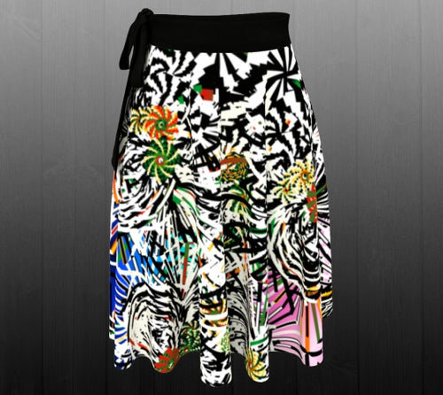 Black Ahimsa Handmade Skirt - Astral Wizard Art