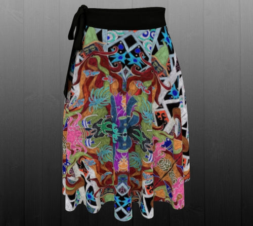 Mystical Worlds Skirt - Astral Wizard Art
