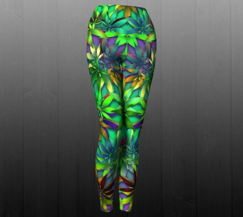 420 Leggings - Astral Wizard Art