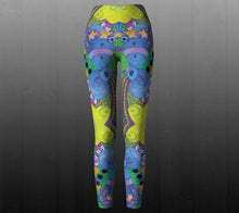 Load image into Gallery viewer, Psychedelic Playground Leggings - Astral Wizard Art