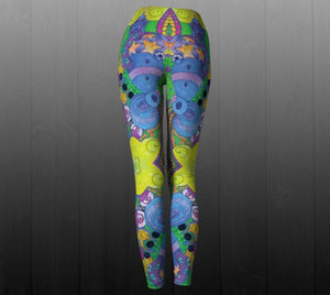 Psychedelic Playground Leggings - Astral Wizard Art