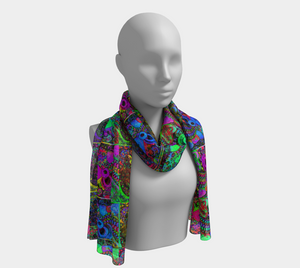 Drippy Print, Melty Scarf - Astral Wizard Art