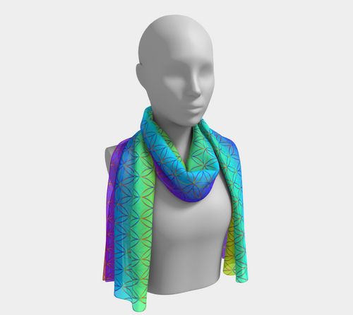 Seed of Life Scarf - Astral Wizard Art