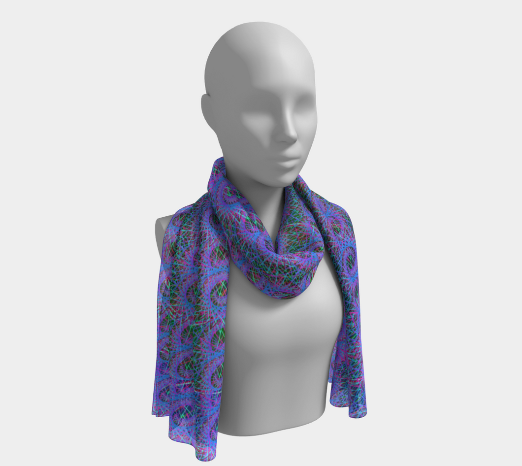 Love Of Fractals Scarf - Astral Wizard Art