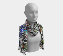 Load image into Gallery viewer, Kaleidoscopic Black Ahimsa Scarf - Astral Wizard Art
