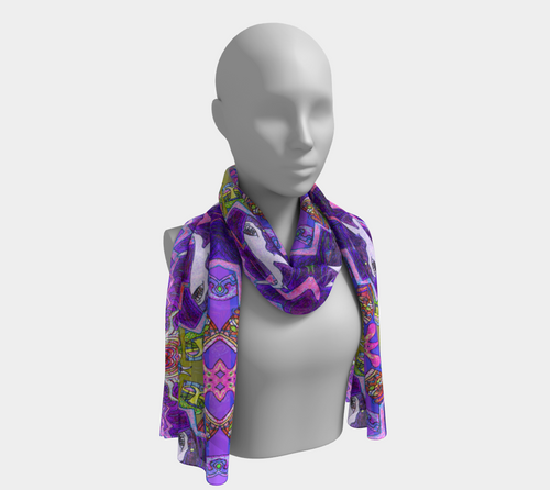 Tiki Attack Scarf - Astral Wizard Art