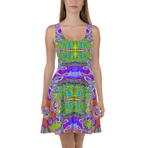 Let Go Skater Dress - Astral Wizard Art