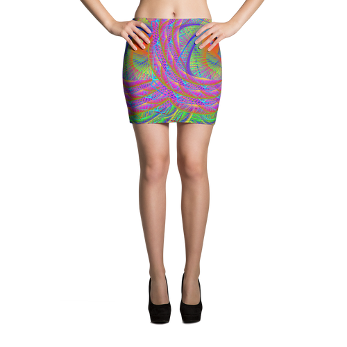 Symbiosis Mini Skirt - Astral Wizard Art