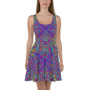 Ayahuasca Dreams Skater Dress - Astral Wizard Art