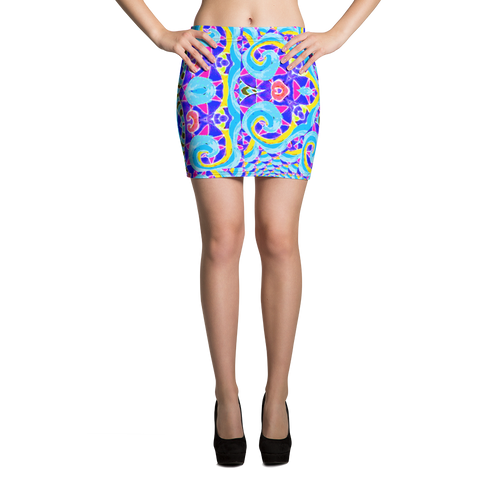 Euphoria Mini Skirt - Astral Wizard Art