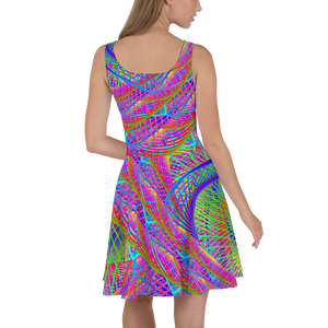 Symbiosis Skater Dress - Astral Wizard Art