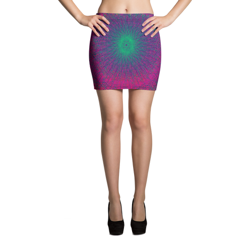 Eternal Borealis Mini Skirt - Astral Wizard Art