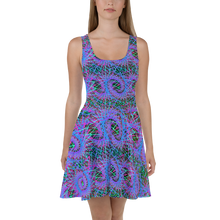 Load image into Gallery viewer, Love of Fractals Skater Dress - Astral Wizard Art