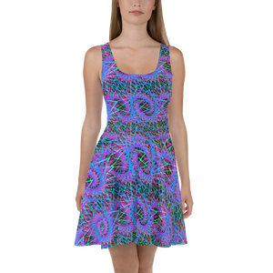 Love of Fractals Skater Dress - Astral Wizard Art