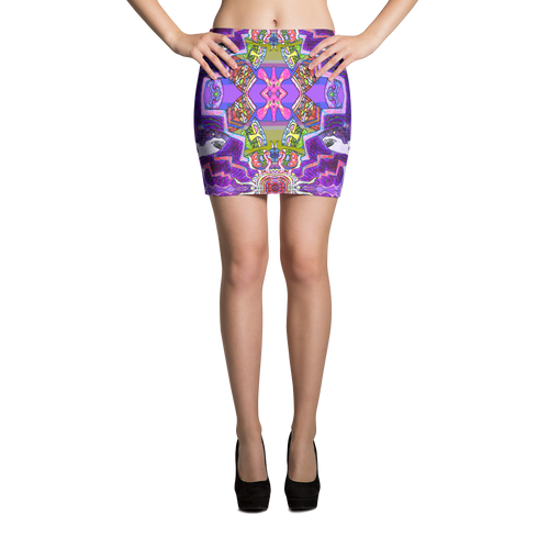 Tiki Attack Mini Skirt - Astral Wizard Art