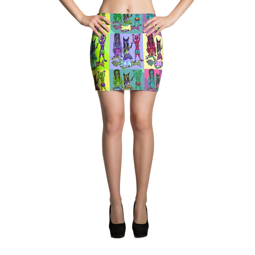 WookLife Mini Skirt - Astral Wizard Art