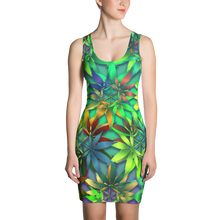 Load image into Gallery viewer, 420 BodyCon Dress - Astral Wizard Art