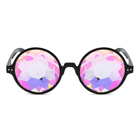 Round Kaleidoscope Glasses, Kaleidoscope,- Rave Accessories