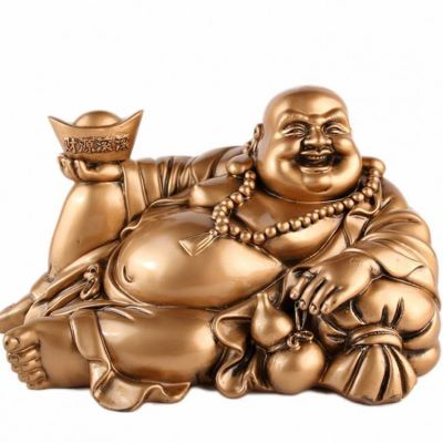 Gros bouddha rieur allongé chance fortune