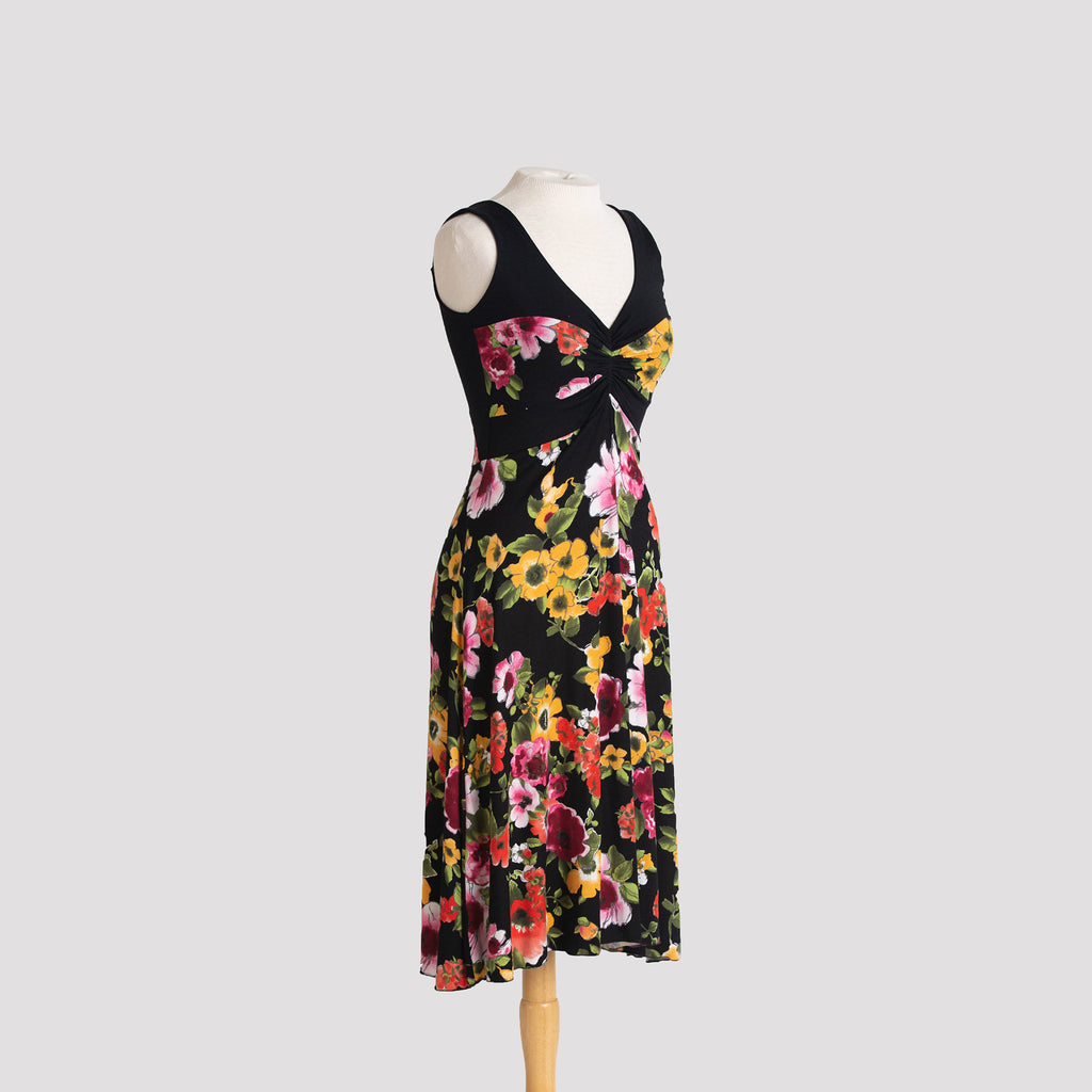 Ailana Dress in Autumn Tropical