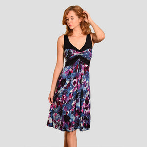 Ailana Dress in Purple Watercolor