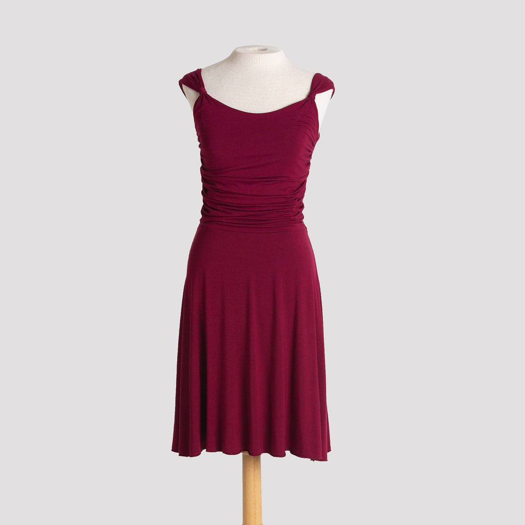 Audrey Dress in Burgundy