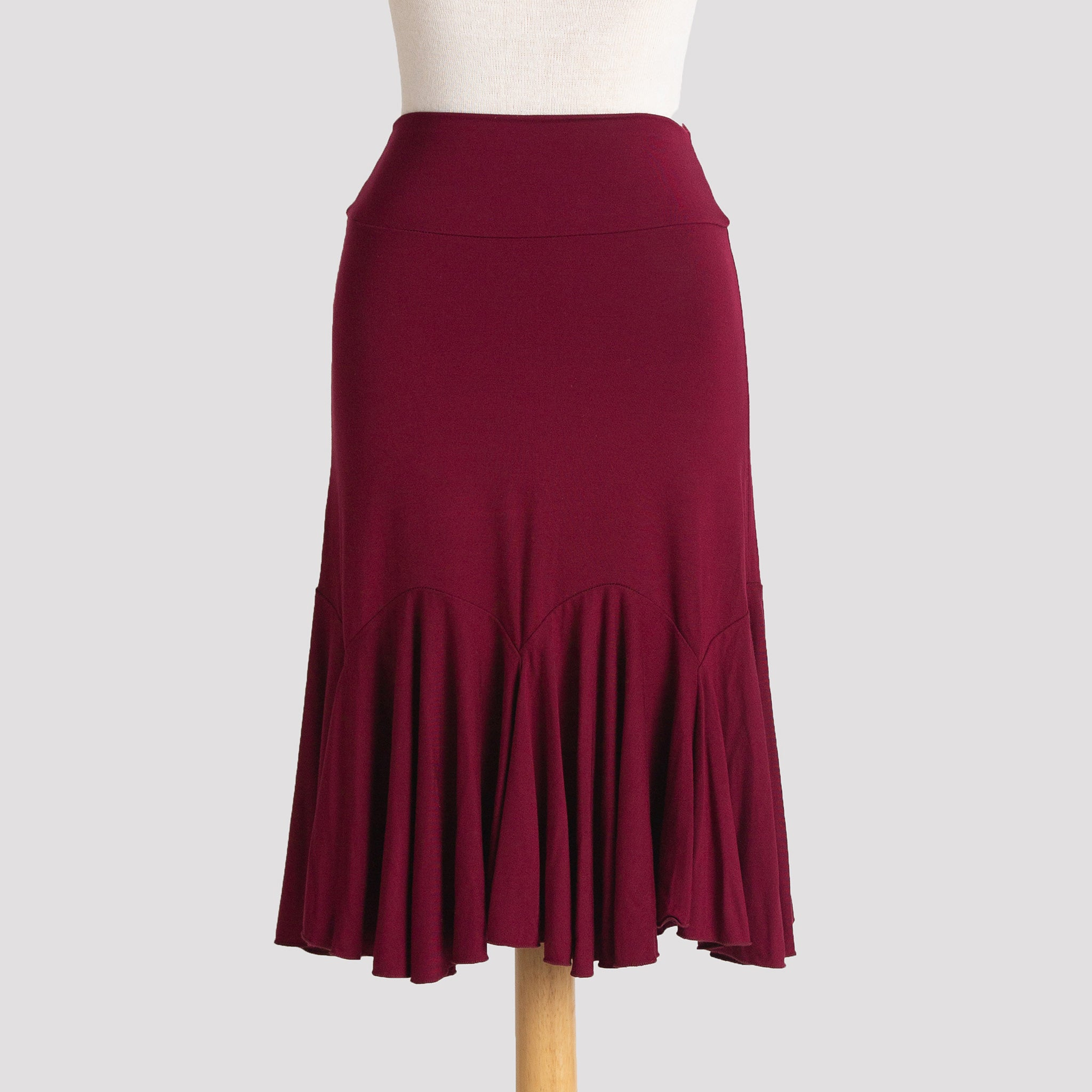Flare Skirt in Burgundy