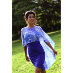 Devore Kiana Dress in Indigo & Indigo Fern Devore