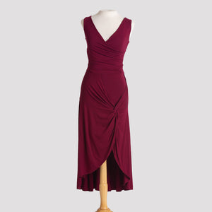 Knot Dress in Burgundy