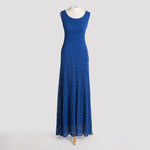 Long Kala Dress in Sapphire Lace