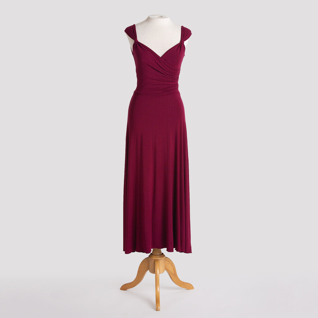 Melody Dress in Burgundy