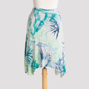 Short Handkerchief Skirt in Tropical Palms