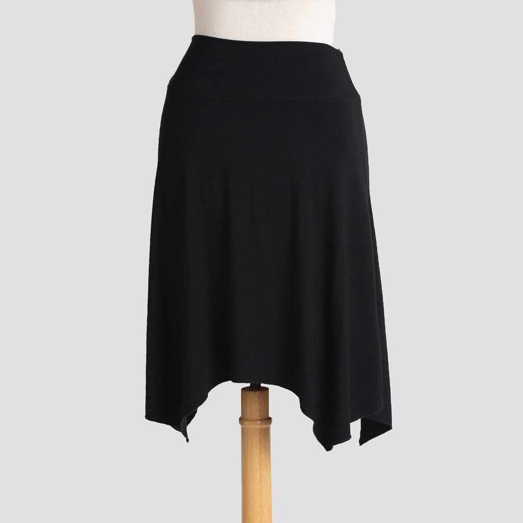 Short Handkerchief Skirt in Black