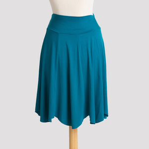 Short Petal Skirt in Green Teal
