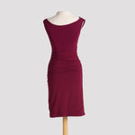 Super Ruched Dress in Burgundy