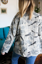 Load image into Gallery viewer, Highly Distressed Camo Utility Jacket