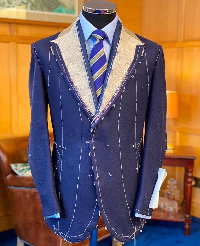 Bespoke suit in the making