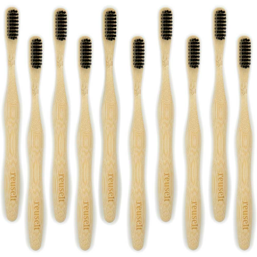 Brosses à dents en Bambou | Lot de 10 - ReUseIt