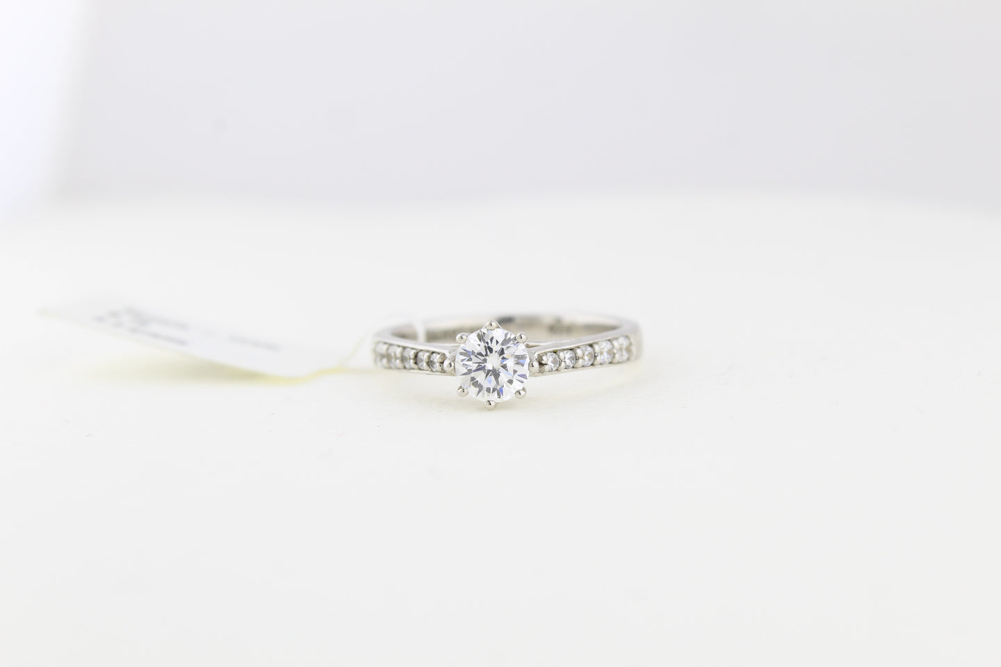 Tapered Channel Solitaire Ring