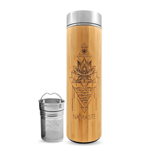 Load image into Gallery viewer, 16.9oz NAMASTE Bamboo Tumbler-bhavana-bottle