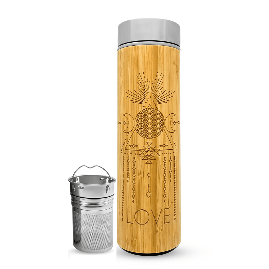 16.9oz LOVE Bamboo Tumbler-bhavana-bottle