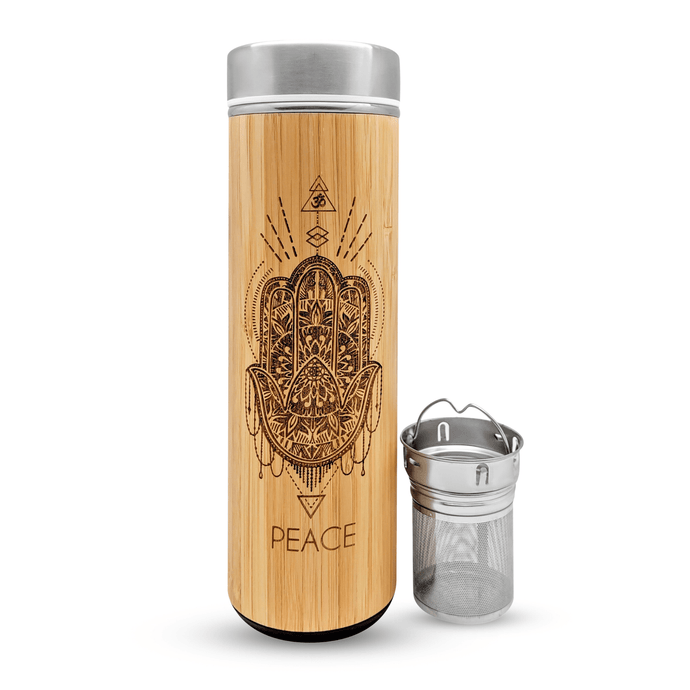 17.9oz PEACE Bamboo Water Bottle